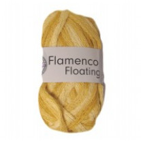 Pelote de laine flamenco floating jaune