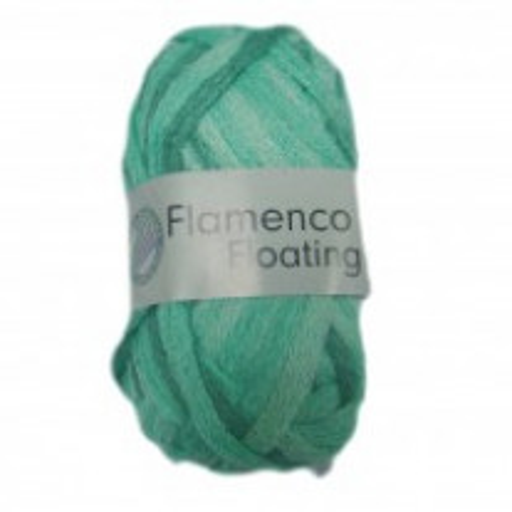 Pelote de laine flamenco floating vert