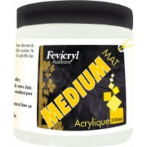 Medium acrylique mat pot de 200ml