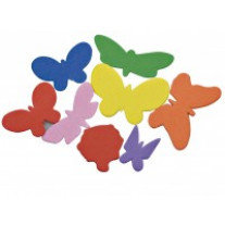 Gommettes Mousse Assorties animaux ou papillons