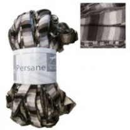 Pelote de laine Persane Cheval Blanc Gris Noir