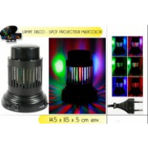 Lampe disco Spot projecteur multicolore