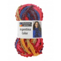 1 Pelote Argentina Color SMC Orange Bleu Rouge