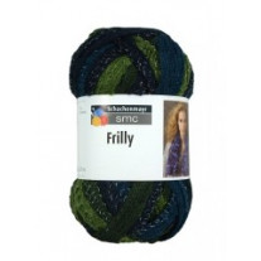 1 pelote de fil à tricoter Frilly Vert et Bleu