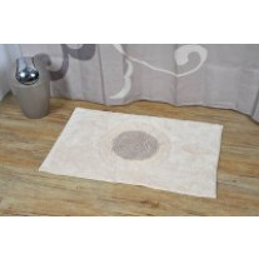 Tapis de bain Coton Melody Blanc Taupe