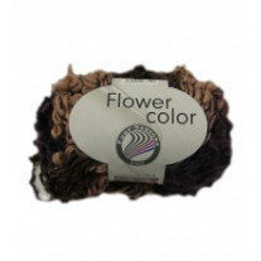 Pelote de laine Flower Color Grundl Prune Beige