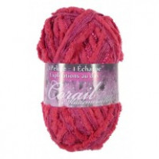 1 pelote de laine Fushia Corail mademoiselle