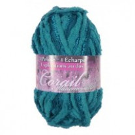 1 pelote de laine Bleu Foncé Corail mademoiselle