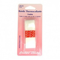 Bande thermocollante pour ourlets 25mm long.5m