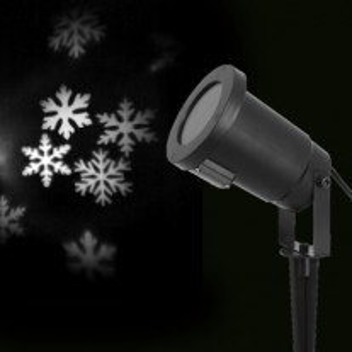 Projecteur LED Lumineux Flocons Blanc