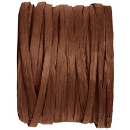 Raphia de couleur Chocolat