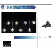 Rideau 100 Led flocon de neige