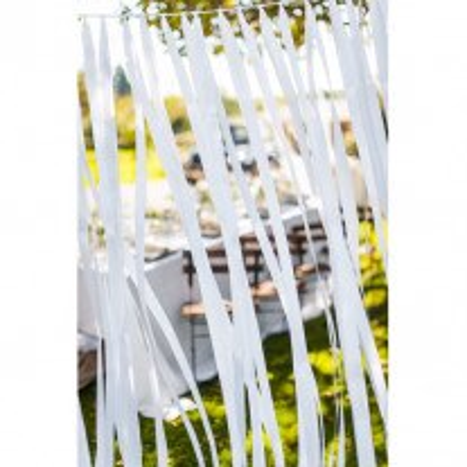 Rideau de guirlande de ruban satin Blanc