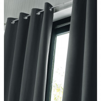 blackout curtain grey