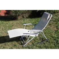 Rocking chair pliant Beige