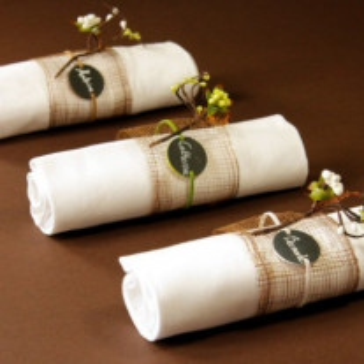 Rond de serviette bracelet ardoise Vert anis