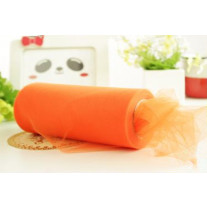 Rouleau de tulle Orange 30cm