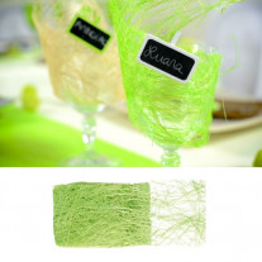 Ruban abaca Vert anis 70mm