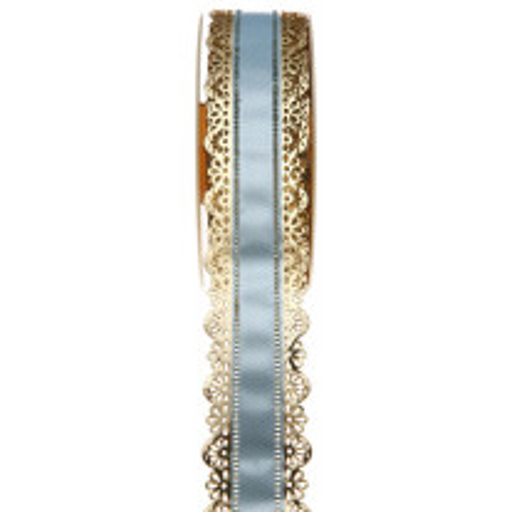 Ruban charlotte dentelle Bleu ciel 50mm