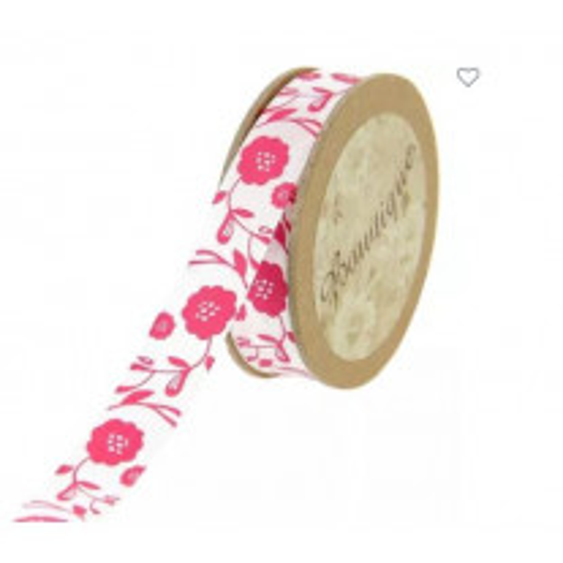 ruban coton fleur de rose pas cher