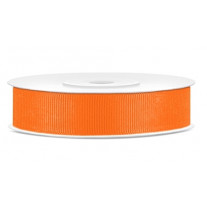 Ruban en bobine gros grain Orange 15 mm
