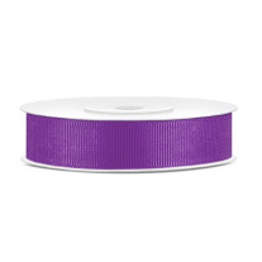 Ruban en bobine gros grain Violet 15 mm