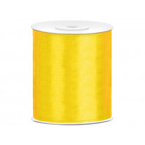 Ruban satin 100mm Jaune