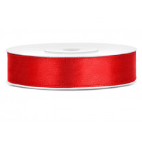 Ruban satin 12mm Rouge