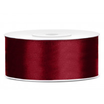 Ruban satin 25 mm Bordeaux