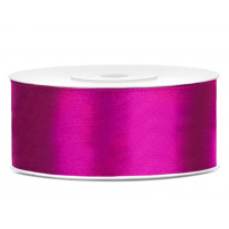 Ruban satin 25mm Fuchsia
