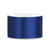 Ruban satin 38mm Bleu Marine