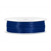 Ruban satin 3mm Bleu marine