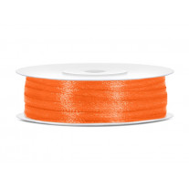 Ruban satin 3mm Orange