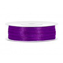 Ruban satin fin 3mm Violet