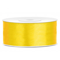 Ruban satin Jaune 25mm