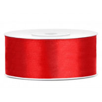 Ruban satin Rouge 25mm