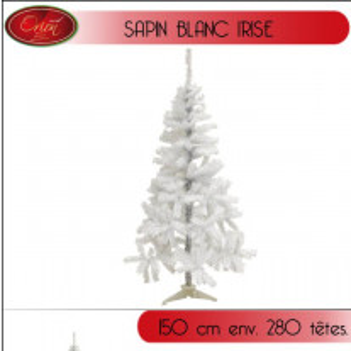 Sapin de Noel artificiel Blanc irisé 150cm
