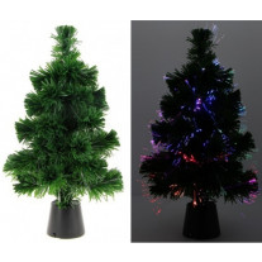 Sapin fibre optique 11 LEDS Multicolores