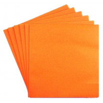 Serviette cocktail en papier Orange