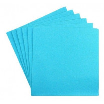 Serviette cocktail papier jetable Turquoise