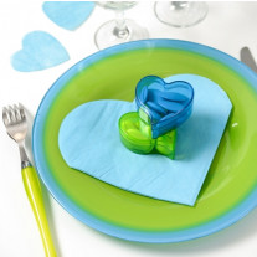 Serviette en papier Coeur vraiment pas Chère