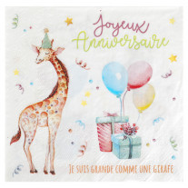 Serviette en papier Zoo PARTY