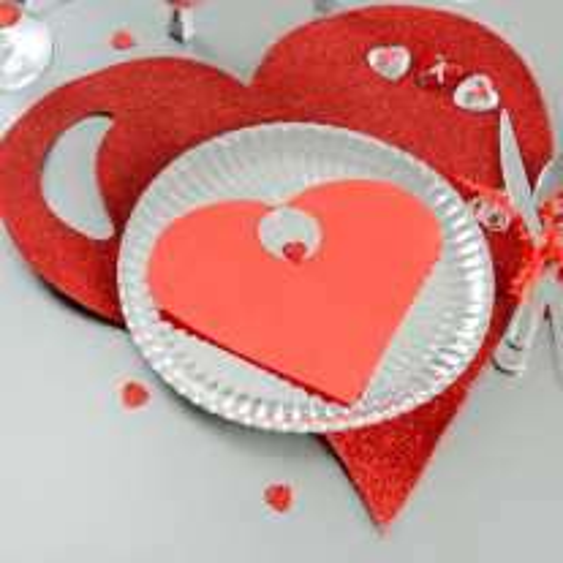 Serviette coeur Rouge Mariage