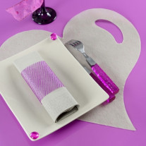 Set de table coeur Argent x50