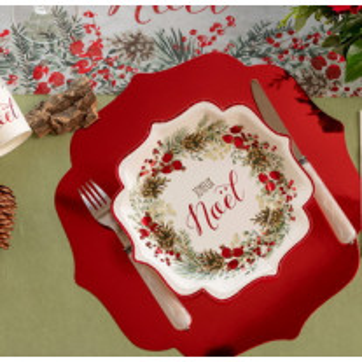 Set de table brillant Rouge Brillant