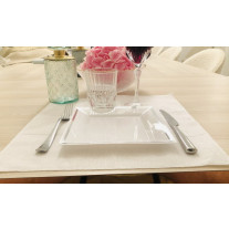 Set de table Carre en Lin Blanc