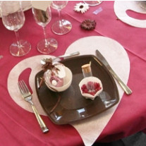 Set de table coeur Blanc x50