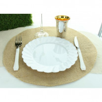 Set de table rond en jute naturel