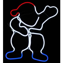 Silhouette lumineuse pere noel bleu blanc rouge