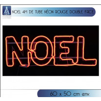 Silhouette NOEL lumineux rouge double face